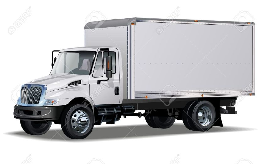 12351965-delivery-cargo-truck-One-click-repaint-Stock-Vector-box